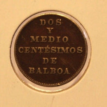 Load image into Gallery viewer, 1929 Panama 2 1/2 Centesimos Balboa Coin with Holder thecoindigger World Estate