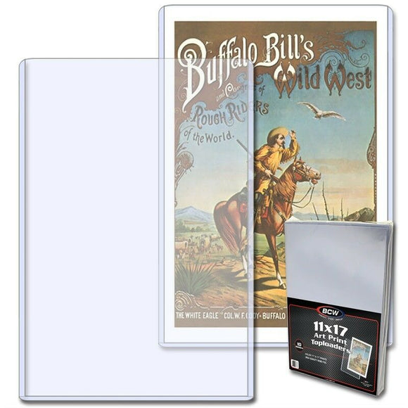 BCW 11x17 Art Print Toploads Holder Case Movie Poster Frame : 10 Pack