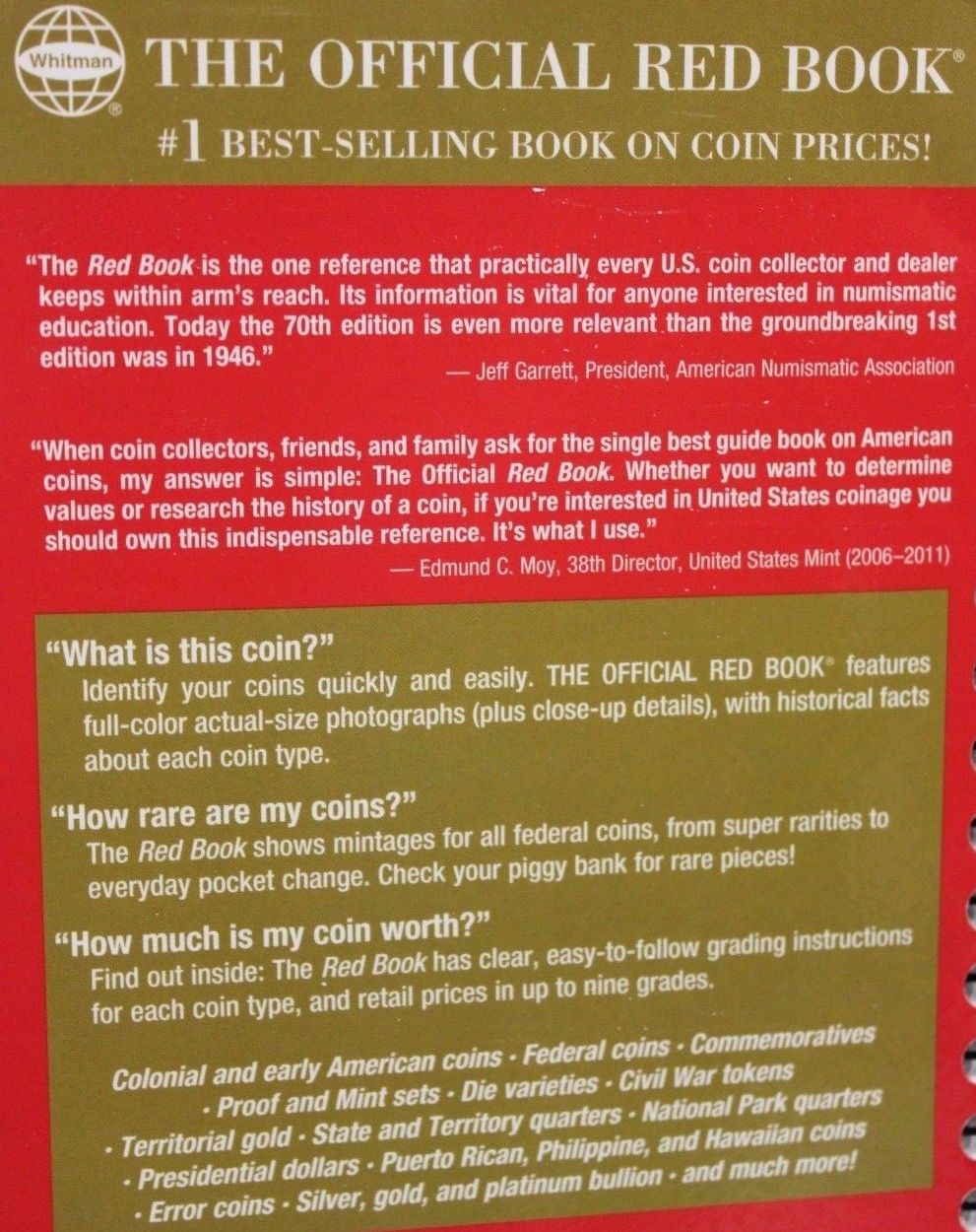 2019 Red Book Official Price Guide for US Coins Spiral Bound Coin Value U S