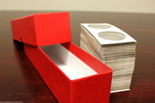Load image into Gallery viewer, 10 Storage Box Coin Holder 9x2x2 Boxes SINGLE ROW 2x2 Flip Snap Mount Case RED