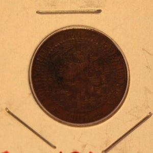 1901 Netherlands 1 Cent Coin with Display Holder thecoindigger World Coins