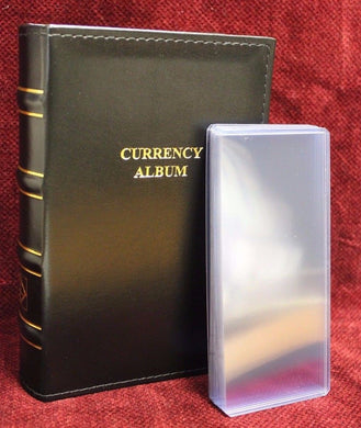 Lighthouse Currency Album Binder Modern Banknote + 20 Rigid Topload Holder Case