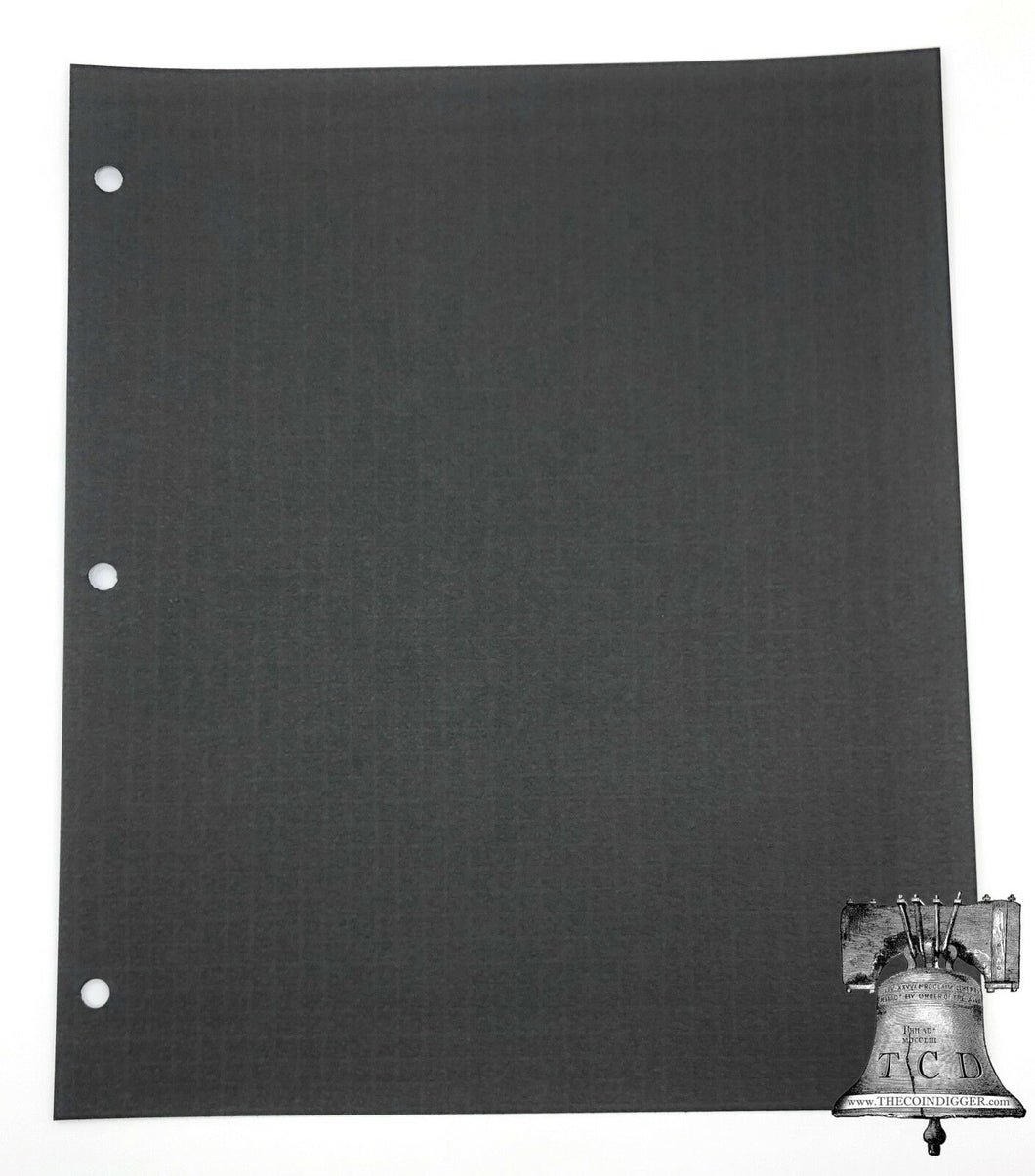 10 TCD Black Blackout Backdrop Cardstock for Album Coin Holder Page Silver Gold
