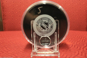NHL Hockey Puck Tube Holder Case 3x1 Regulation Size & Adjustable Stand BCW