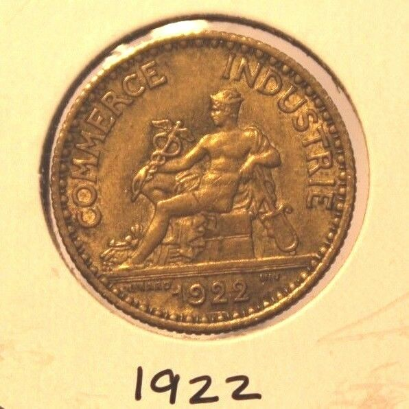 1922 France 1 Franc Coin with Display Holder Thecoindigger World Estates