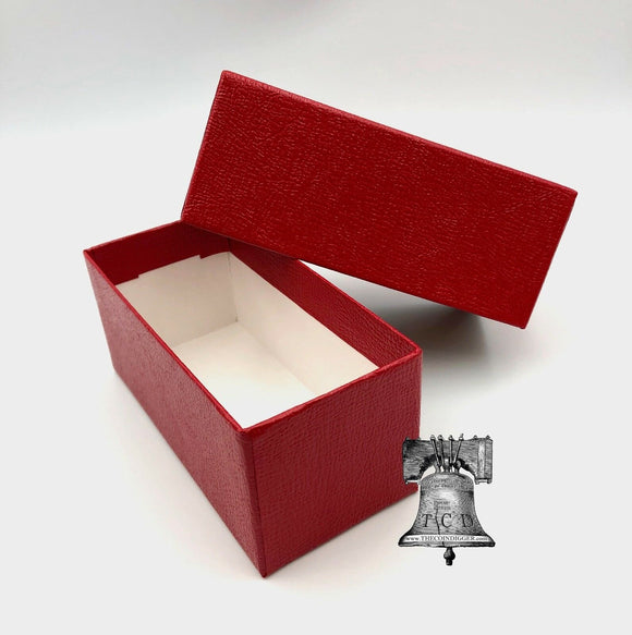 Coin Holder Storage Box 4.5x2x2 Red SINGLE ROW for 2x2 Flip Snap Case of CHOICE