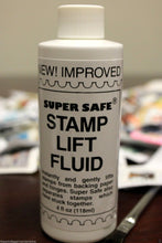 Load image into Gallery viewer, Stamp Lift Removing & Lifting Fluid 4oz Bottle with Brush Super Safe Stamps Care
