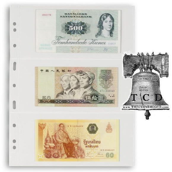 5 Lighthouse Grande Page Currency Holder Toploader Sleeve 3C Stamp Sheet Vario