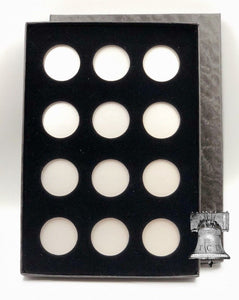 Air-tite Coin Holder Black Velvet Display Silver Insert Model A Storage Box Case