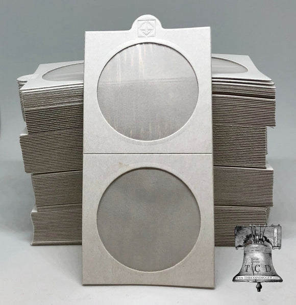 100 Morgan Peace Silver Dollar 2x2 Self Adhesive Coin Holder Flip 39.5mm Case