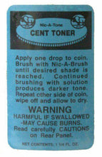 Load image into Gallery viewer, Nic A Tone Kit Penny Cent Toner W/ Brush & Coin Holder Acid Bottle 1.25oz