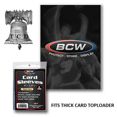 100 BCW Jersey Relic Cards Sleeve Game Worn Thick Card Sleeves Protection 1 Pack