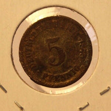 Load image into Gallery viewer, 1875 J German Empire 5 pfennig Coin with Holder thecoindigger World Coin Estate