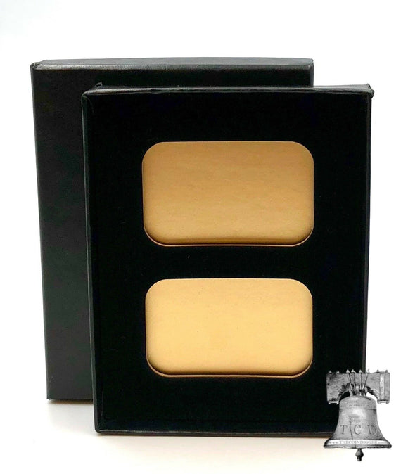 Air-tite Coin Holder Black Velvet Display Gold Bar Insert Storage Case Paper Box