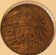 Load image into Gallery viewer, 1917 Austria 20 Heller Coin and Holder Display  Thecoindigger World Coin Estates