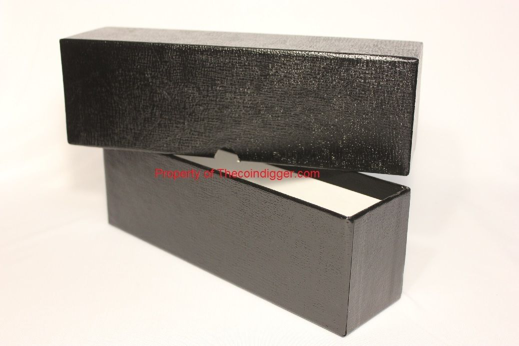 Coin Slab Storage Box Single Row Black GUARDHOUSE Holds 26 Certified Slabs 10
