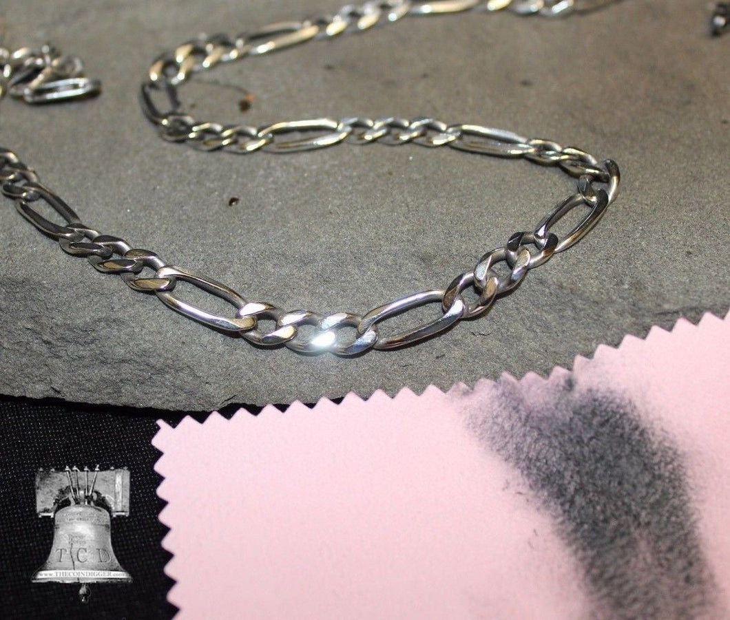 3 Silver Jewelry Necklace Ring Cleaner Polishing Cloth Bullion Anti-Tarnish Pad