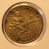 1944 Phillipines 5 Centavo Bronze Coin with Holder thecoindigger World Estate