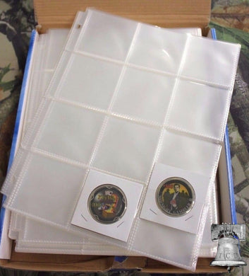 10 Coin Holder 12 Pocket Page 2.5 x 2.5 GUARDHOUSE Snap Crown Flip Storage Pages