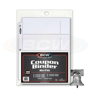 BCW Coupon Binder 40 Assorted Pocket Page 9 8 6 4 3 Variety 3 Ring Album Pages