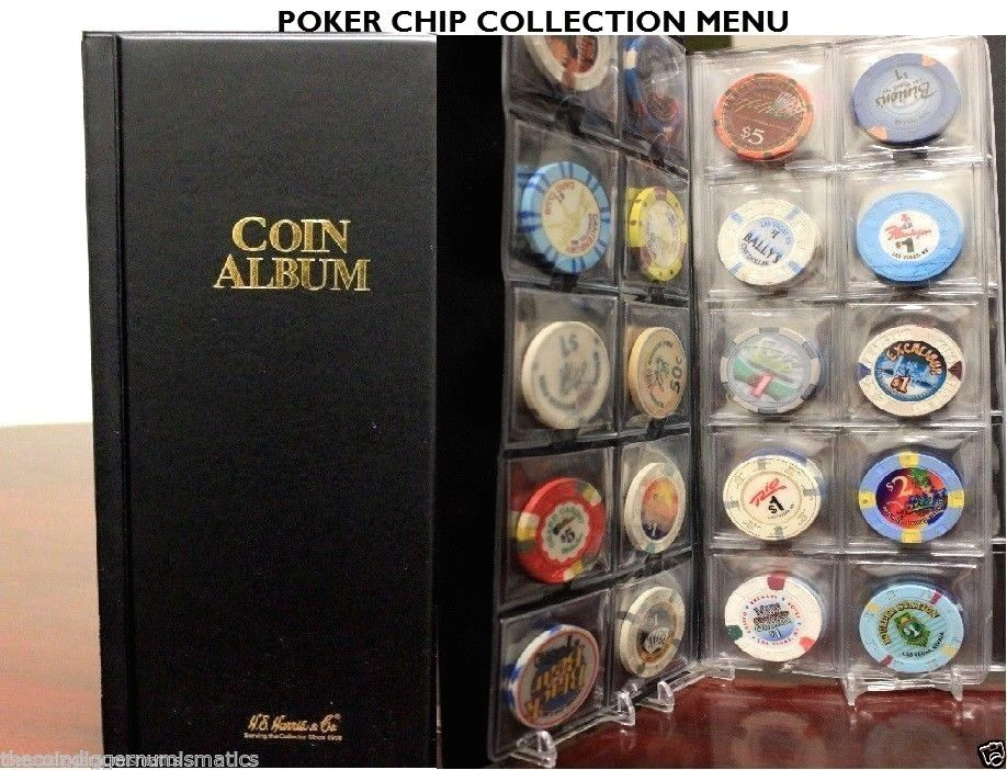 80 Pocket Casino Poker Chip Album Book + 80 Coin Holder 2x2 Storage Case Sleeve