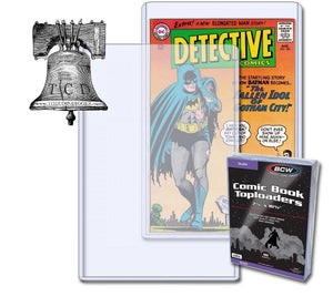 1 BCW Silver Age Comic Book Holder 56-70 Topload 7x11x5mm Plastic Rigid Case