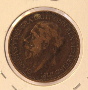 1927 Great Britain 1/2 Penny Coin with Holder Thecoindigger World Coins Estates