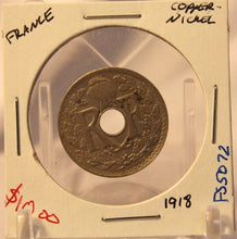 Load image into Gallery viewer, 1918 France 25 Centimes Coin and Display Holder Thecoindigger World Estates
