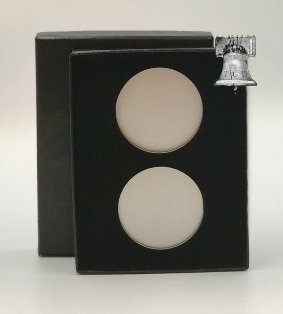 Air-tite Coin Holder Black Velvet Box Display Silver Insert Model H Storage Case