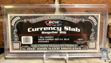 BCW Deluxe Currency Slab Dollar Case Regular Banknote Holder + Display Stand