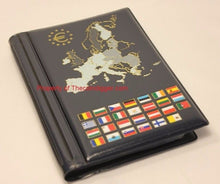 Load image into Gallery viewer, EURO Coin Wallet Album Holds 12 European Mint Sets Pages Euro Collection Book