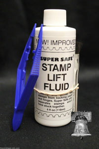 Stamp Removing & Lifting Fluid 4oz Bottle with Brush Super Safe + TWEEZERS