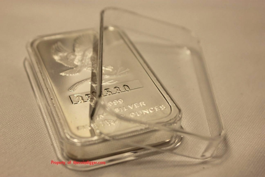 Air-tite Direct Fit Capsule Holder for 10oz Silver Bar Ingot Clear Acrylic Case