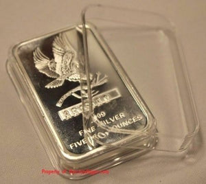 Air-tite Direct Fit Capsule Holder for 5oz Silver Bar Ingot Clear Acrylic Case