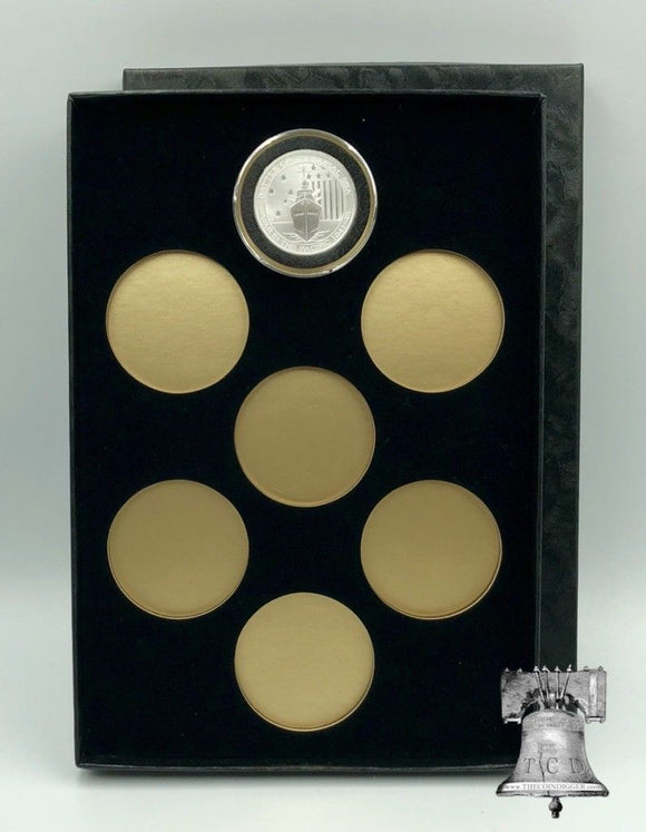 Air-tite Coin Holder Storage Box Silver Gold Reflector & 7 MODEL H 26-32mm or 38/39/40mm Direct Fit Capsule