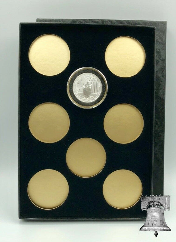 Air-tite Coin Holder Storage Box Silver Gold Reflector & 8 MODEL H 26-32mm or 38/39/40mm Direct Fit Capsule