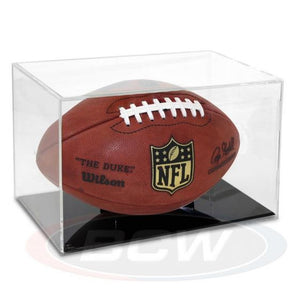 NFL NCAA Football Holder Display Case Acrylic Grandstand Autograph Storage Box