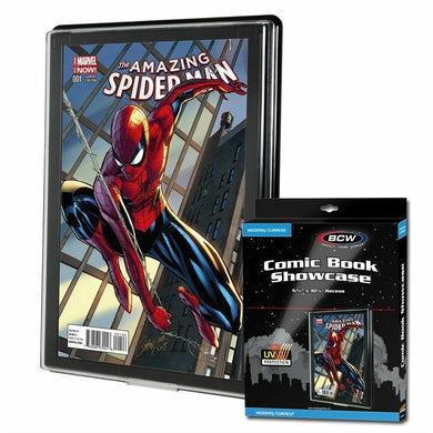 BCW Comic Book Holder UV Showcase Display CURRENT Wall Mount Case Frame Modern