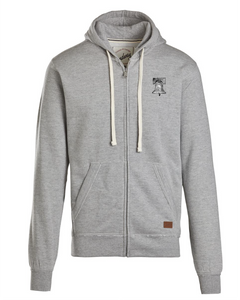 TCD Keep Calm & Count Money Premium Full Zip Hoodie Heather Grey Logo