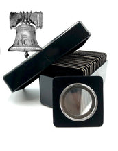 Load image into Gallery viewer, Air-tite Storage Box + 20 Coin Holder Black Velvet Display Card Case + Model I Capsule