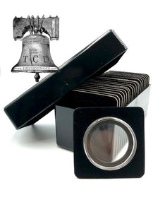 Air-tite Storage Box + 20 Coin Holder Black Velvet Display Card Case + Model I Capsule