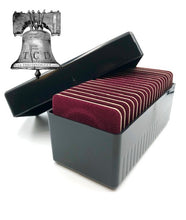 Load image into Gallery viewer, Air-tite Storage Box + 20 Coin Holder Red Velvet Display Card Case + Model I Capsule