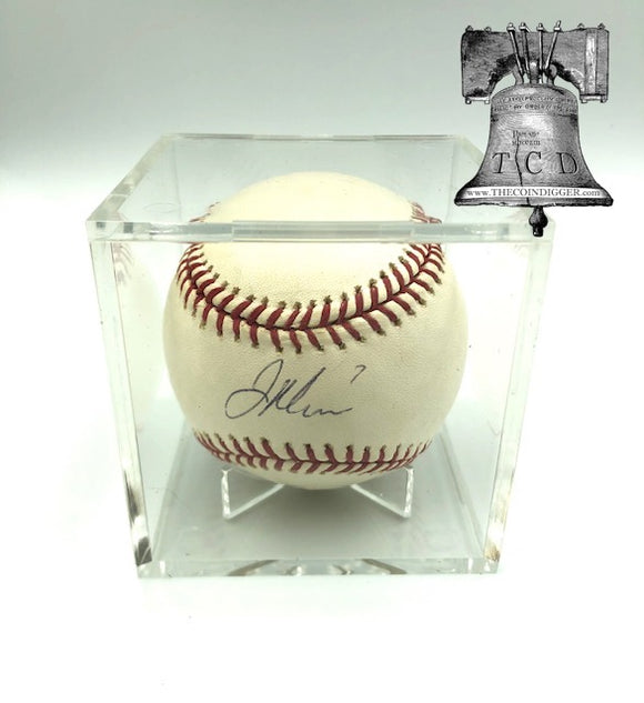 Pro Mold Baseball Holder Acrylic Ball Cube w/ Stand 25 Year UV+ Storage Case