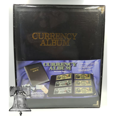 Deluxe Currency Album Large Banknote Binder 3 Pocket Page Holder Storage Case