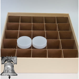 Large Dollar Coin Holder Tube Storage Box 25 Tubes Heavy Duty GUARDHOUSE