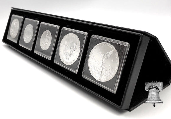 Airbox Coin Holder Storage Q5 Magnet Display Setup Box Stand + 2x2 Quadrum Storage Capsules Snap