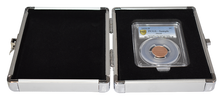 Load image into Gallery viewer, Single Slab Coin Holder Storage Box Aluminum PCGS NGC Vault GUARDHOUSE Case