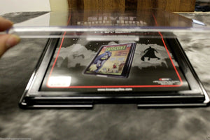 5 SILVER AGE Comic Book Showcase Frame Holder BCW Wall Mount Display Case Plaque