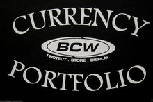 Load image into Gallery viewer, BCW Currency Banknote Portfolio Album 3 Pocket BLACK Holds 30 Bills Holder Book