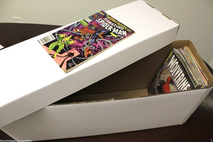 1 BCW Long Cardboard Comic Book Custom Storage Box Holds 250-300 Comics Holder